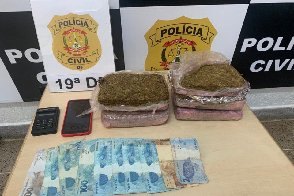 Motorista de aplicativo é preso por fazer delivery de drogas no DF