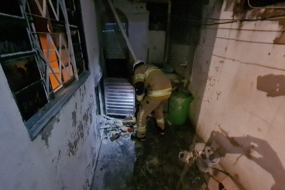 CBMDF atende explosão por vazamento de gás em Ceilândia