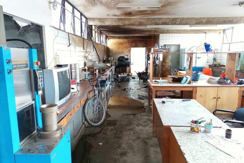 Laboratório de manipulação de asfalto da Novacap sofre explosão
