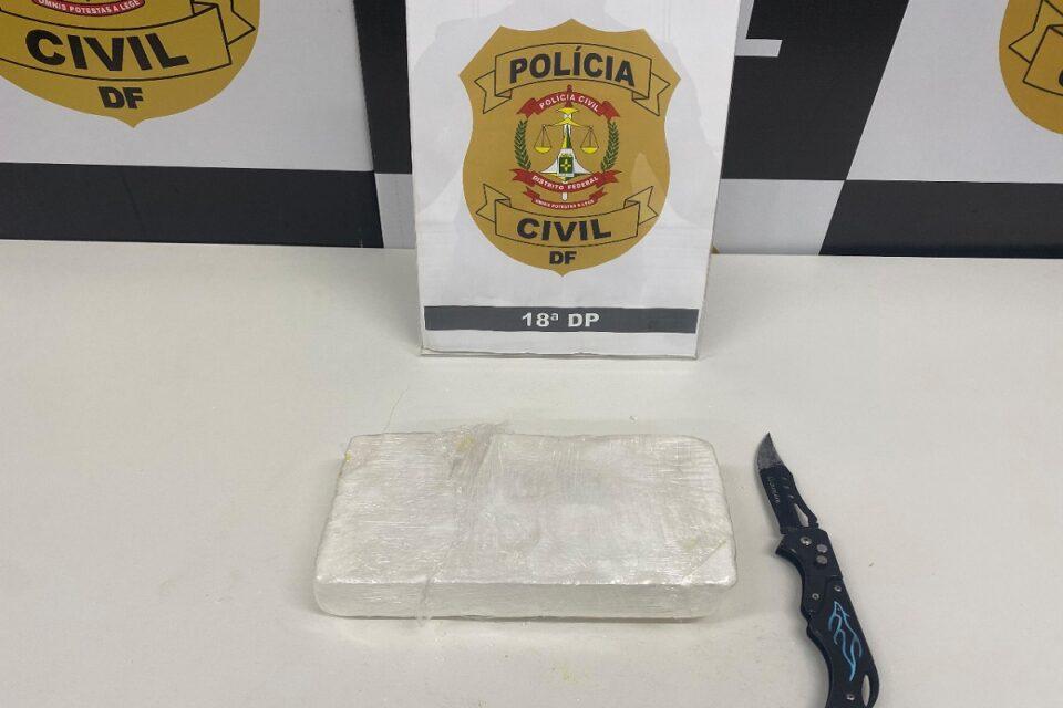 PCDF prende dupla de traficante de cocaína