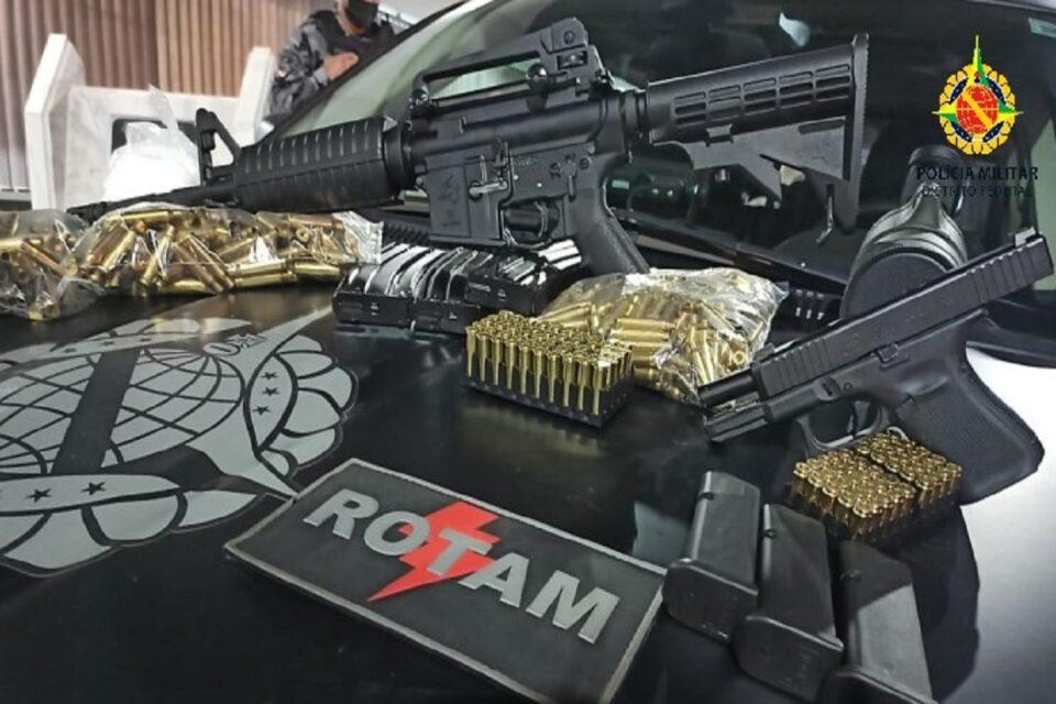 Polícia apreende armamentos escondidos em salão de beleza no DF