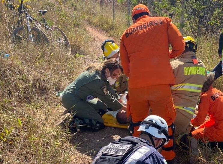 Ciclista passa mal e morre em trilha no Riacho Fundo