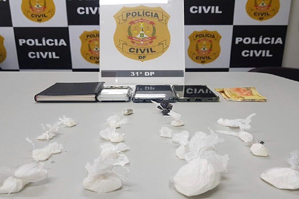 PCDF prende homem que arremessava droga pela janela