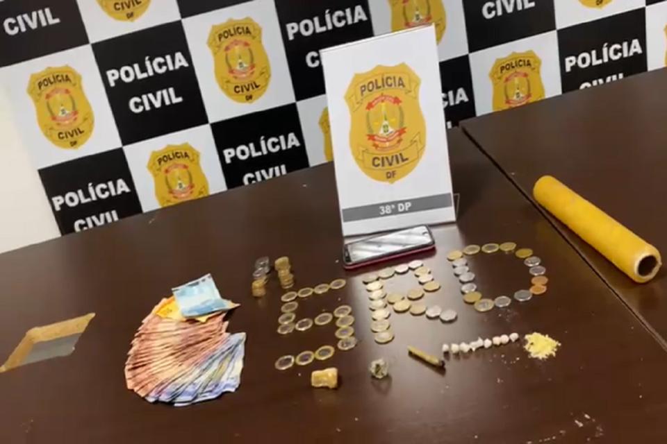Homem é preso por tráfico de drogas em Vicente Pires